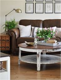 Brown Leather Sofa Decorating Living Room Ideas by Working With Leather Furniture Emily A Clark