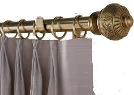 decorative brass finish drapery rods traditional traverse rods