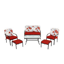 Garden Treasures Patio Furniture Cushions by Shop Garden Treasures 6 Piece Dunstan Patio Conversation Set With