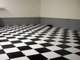 Black And White Tiles In Kitchen Linoleum Checkered Vinyl Floor