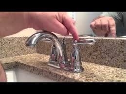 Moen Eva Faucet Leaking by Tighten A Loose Lever On Moen Brantford Faucet Youtube