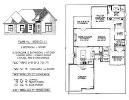 Smart Placement Story Car Garage Plans Ideas by 1 Story 2 Bedroom 2 Bathroom 1 Kitchen 1 Dining Room 1 Family