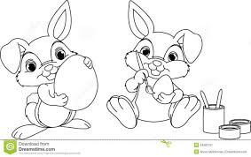 Easter Bunny Coloring Page Royalty Stock Photography Image Baby Sheets Pages Cartoons