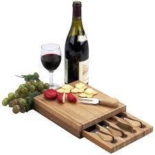Wine Kitchen Decor Sets by Amazon Com Picnic At Ascot Edam Bamboo Cheese Board Set With 4