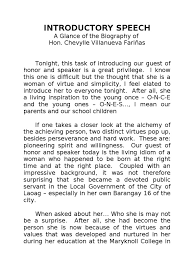 Sample Speech in Introducing a Guest Speaker