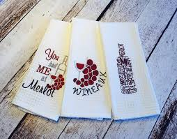 Wine Themed Kitchen Set by Items Similar To Wine Themed Kitchen Towel Sets On Etsy