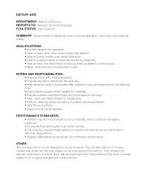 Resume For Dietary Aide Sample Assistant Sales Example Homemaker
