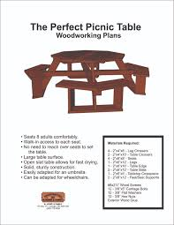 free octagon walk in picnic table plans plans diy free download