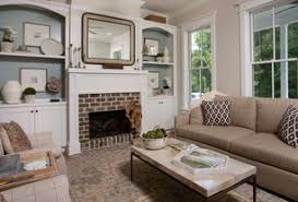 Traditional Living Room With Hardwood Floors Built In Bookshelf Carmine Faux Marble Coffee