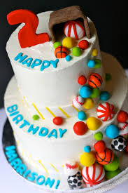 Cakes Decorated With Candy by Ball Themed Birthday Cake Goodiebox Bakeshop Hoboken Nj