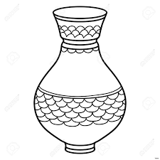 Vases Vase Clipart Black And White Clip Art Elegant Vintage Old