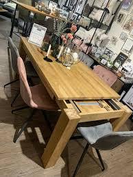 esszimmer tisch auszugstisch aus eiche massiv bis 230cm neu