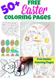 Free Online Easter Bunny Coloring Pages Sheets Printable Egg