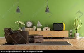 lizenzfreies bild 15905417 grüne wohnzimmer mit retro tv