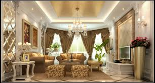 Primitive Curtains For Living Room by Luxurious Living Room With Curtains 3d Cgtrader