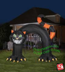 Halloween Inflatable Spider Archway by Gemmy Airblown Inflatable Lightsync Black Cat Archway Singing