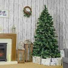 7ft Christmas Tree Uk by Jingles Artificial Christmas Tree Slim Amsterdam Pine Pvc Spruce