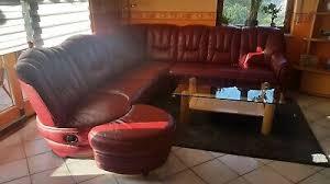rote wohnzimmer sofa mit abnehmbaren ottomanen eur