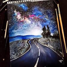 Watercolor Pencil Art Artist Jana Grote Cool Sketch Of Winding Road