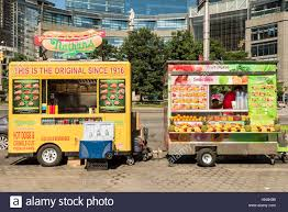 New York, USA - June 18, 2016: Hot Dog And Smoothie Food Trucks On ... About Us Sweet Mobile Cupcakery Spring Food Truck Rally In Columbus Ga Reports That Food Truck Street Eats Trucks Pinterest 3 Day Restaurants Itinerary Ohio Trucks Color Me Rad Returning Uptown Spring Mania Adventures Sticky Fingers Festival To Feature 15 Live Music The Locations Locals Favorites 2018 Taco Where To Find Great Authentic Mexican 3dx Roaming Hunger