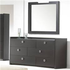 6 Drawer Dresser With Mirror by Huppe Monte Carlo Contemporary 6 Drawer Dresser And Mirror Set