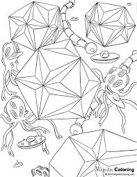 Free Adult Coloring Page Alien World