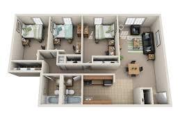 100 Riverpark Apartment River Park S Floor Plans Ohio University Student Housing