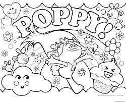 Coloriage Trolls Poppy Dreamworks JeColoriecom