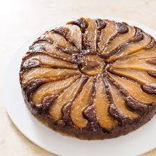 Pear Walnut Upside Down Cake