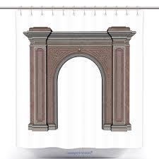 100 Arch D Amazoncom VanfanPolyester Shower Curtains Render Bath