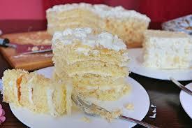 russische torte milchmädchen rezept mit frischkäse sahne