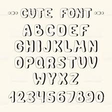 Hand Drawn Font Complete Abc Alphabet Set Letters And Numbers Royalty Free