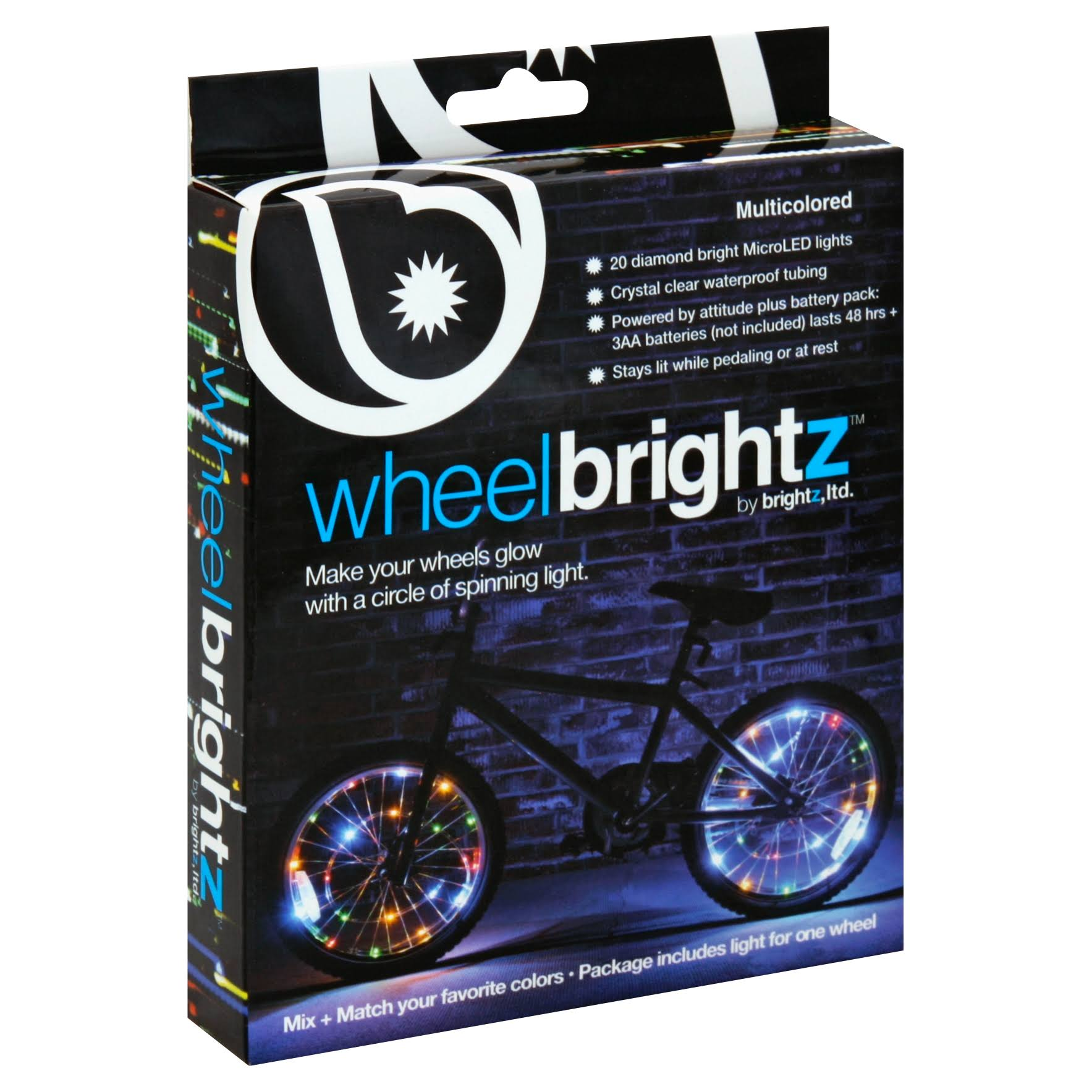 Wheel Brightz Lightweight LED Bicycle Safety Light - Multicolored
