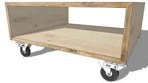 canap sur roulettes bout de canapé à roulettes en bois nicolas maisons du monde ref