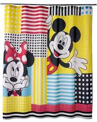 deal alert disney s mickey minnie mouse fabric shower curtain