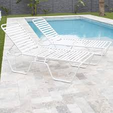 Mix Gulfstream Poolside Patio Outdoor Commercial Grade Single Strap Lounge  Chaise, White Outdoor Pool Lounge Chair Pillow With Adjustable Elastic Strap Classy Flowers Incredible Used Commercial Fniture Plastic Costway Patio Foldable Chaise Bed Beach Camping Recliner Yard Walmartcom Keter Pacific Whiskey Brown Allweather Adjustable Resin Lounger Side Table 3piece Set Kenneth Cobonpue 1950s Alinum Ideas Repair How To Fix A Vinyl Strap On Chairs White Marvellous Leather Marco Island Dark Cafe Grade In Putty 2pack Kinbor Of 2 Wicker W Cushion