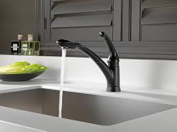 Moen Extensa Faucet Loose At Base by Delta 470 Bl Dst Signature Single Handle Pull Out Kitchen Faucet