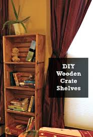 Wooden Crate Shelves Unfinished Tutorial Wood Shelf Ideas