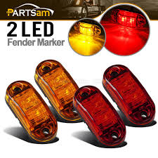100 Truck Marker Lights Details About Oval Amber Red 2 Diode LED Trailer Lights Clearance Side Light 25