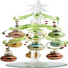 LS Arts Inc Glass Christmas Tree With 9 Wine Markers Ornaments
