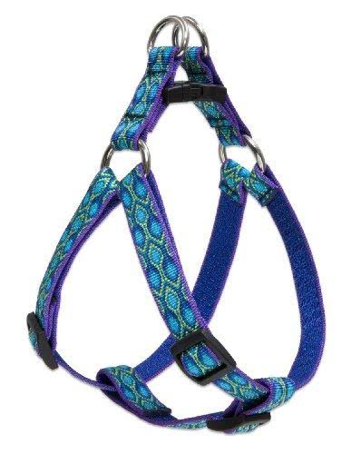 "Lupine Rain Song Small DogsStep-in Harness - 3/4"" x 15""-21"", Blue"
