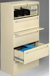 Lateral File Cabinets Locking Retractable Door Letter Legal