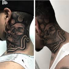 These Kinds Of Tattoos Are Mostly Done At The Back Neck Instead Front Size Because Skin Over There Is Thicker So It Holds