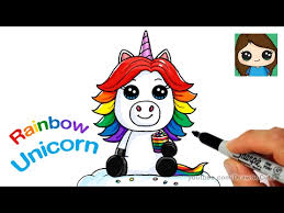 How To Draw A Rainbow Unicorn Easy