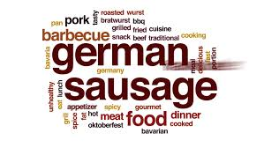 animation cuisine german sausage word cloud text design animation stock