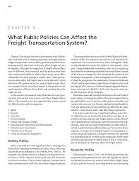 100 Trucking Deregulation Chapter 3 What Public Policies Can Affect The Freight