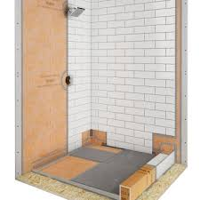 shower with linear drain schluter