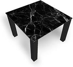 dekoglas couchtisch gebrochenesglas schwarz glastisch