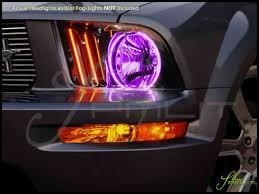 05 09 ford mustang led colorshift halo rings headlights bulbs