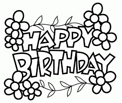 Birthday Coloring Pages Free Printable Cards